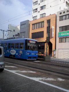 路面電車。