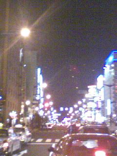 街の灯りが